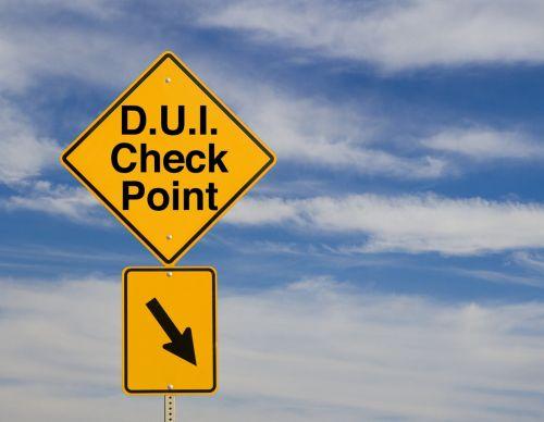 D.U.I. Check Point sign